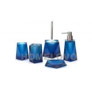 China Le bleu bain fait sur commande de 5 de morceau de savon de distributeur accessoires en plastique de salle de bains place on sale