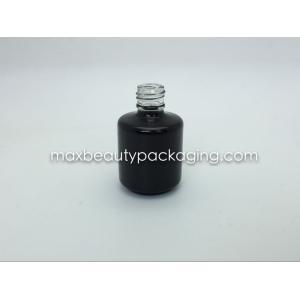 empacotamento preto brilhante grosso e forte da venda quente do pó do revestimento do gel da garrafa 15ml da forma redonda do gel do polimento da garrafa do verniz para as unhas