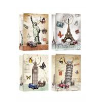 Country Symbols Patter Design gift paper bags for tourist gift shops