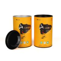 China Airtight Tea Packaging Tube Paper Composite Cans Customized Printing on sale