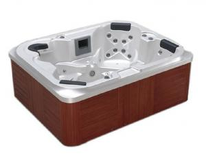 China Outdoor Massage Spa Tub Acrylic Material Whirlpool Spa Tub For 5 Person on sale