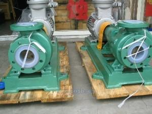China IHF  PTFE lined centrifugal chemical process pump transfer sulfuric acid pump on sale