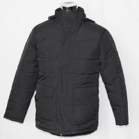 Comfortable Outside Mens Padded Jacket , Water Repellent Black Padded Jacket