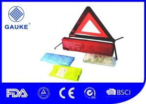 China 3 In 1 Auto Roadside Emergency Kit , Roadside First Aid Kit With Reflective Car Warning Triangle on sale