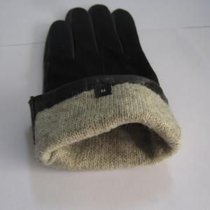 China best selling women's real goat skin leather winter gloves with leather decorate on sale