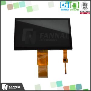 China Industrial PDA 7 Inch Touch Panel With TTL / I2C Interface , 800x480 Resolution on sale