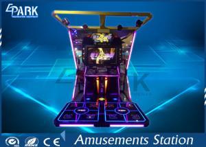 China LCD High definition Dancing King video dacing simulator music game machine on sale