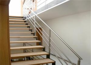 China Modern Staircase Stainless Steel Balcony Railing Durable Balustrade Customized Size on sale