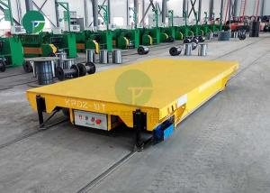 China Electric Arc Furnace Material Transfer Battery IndustrialRailTrolley Cart 30 Tons on sale