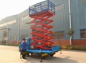 China 4m -18m Platform height Truck Mounted Aerial Lift , hydraulic lift working under 3kw on sale