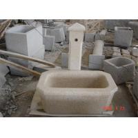 Pedestal Granite Water Fountain , Decorative Garden Stones Customized Dimension