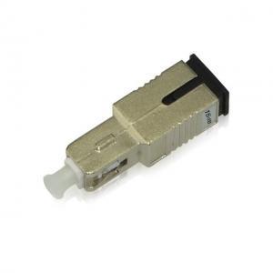 China SC / UPC Singlemode Fixed Fiber Optic Attenuator, Male-Female, 1-30dB on sale