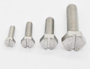 China GB29.1 Slotted Hex Head Cap Screw , Fully Threaded Stainless Steel Hex Bolts on sale