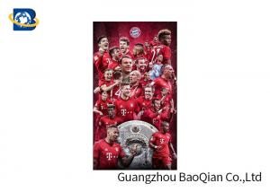 China Flip Effect 3D Lenticular Poster PET / PP Materail Football Star Advertisement on sale