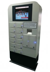 China Customized Advertising Cell Phone Charging Kiosk With Metal Keypad on sale