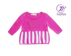 China Eco - friendly Dyeing 100% Cotton Acrylic Knitted Baby Kids Wear Sweaters, Siamese Dress on sale