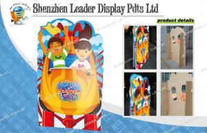 China Trade Show Advertising Cardboard Standee For Activity , Corrugated Display on sale