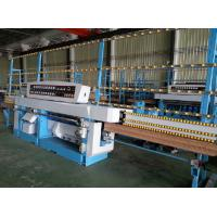 Miter Glass Glass Edging Machine With Air Polishing / Electrical Rail Lift System