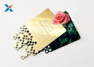 China Mirror Acrylic Gifts , Acrylic Invitation Card With Custom Shape For Wedding / Party on sale