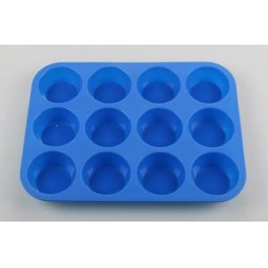China 100% pure food grade silicone baking pans 12 cavity muffin cupcake Pan bakeware on sale