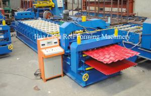China Double Layer Colour coated Steel Roof Panel Wall Panel Roll Forming Machine PLC Control Automatic on sale