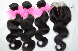 China Grade 8A Virgin Brazilian Remy Natural Black Body Wave Cuticle Aligned Hair Weft, 100 Human Hair Weave Brands on sale