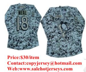 China NHL Pittsburgh Penguins #18 James Neal White Camo Jersey on sale