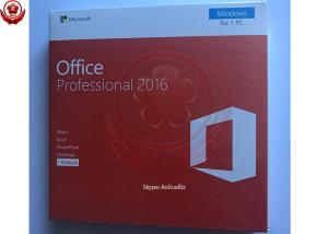 China 100% Activation Online Microsoft Office 2016 Pro Retail Box 32bit / 64bit on sale