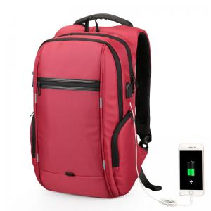 China Anti Theft Waterproof Laptop Backpack With USB Charging Port Large Capacity on sale