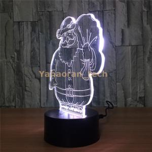 China deco creative acrylic 3d led night lamp christmas lights outdoor on sale