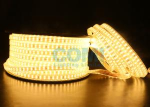 China 2835 Dual Row LED mount 168 LED / M High Voltage LED Strip Light 1000LM / Meter  on sale