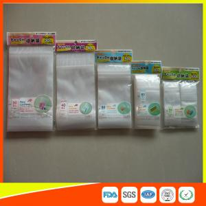 China Resealable Clear Packing Ziplock Bags , Grip Seal Strong Ziplock Bags For Packing on sale