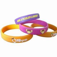 China Embossed Silicone Wristbands on sale