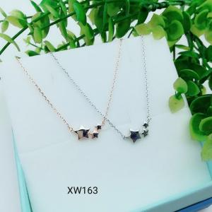 China 925 Sterling Silver Charm Choker collarbone chain necklace  WY163 on sale