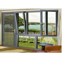 China Outer Opening Aluminium Glass Door , Wind Proof Hanging Glass Window on sale