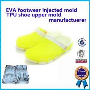 China Transparent and comforatable Injection indoor PVC no air blown lady crystal shoe moulds on sale