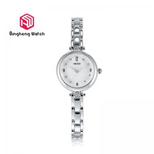 China Stainless Steel Quartz Bracelet Watch , Womens Waterproof Silver Watch on sale