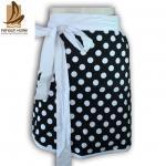 Polyester de cadeau de promotion/tabliers personnalisés par tablier cuisine de coton avec le point imprimé