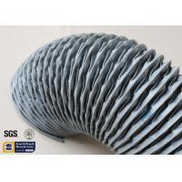 China PVC Coated Fiberglass Fabric HAVC Flexible Air Duct 200MM Grey 260℃ Waterproof on sale
