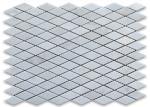 Rhomboid Shape White Marble Stone Mosaic Tile Diamond Polished Surface