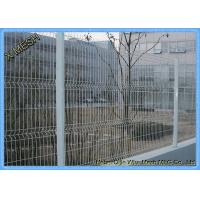 China 2.5m Width Vinyl Electrostaic Paint Powder Galvanized 3D Curved Welded Mesh Fence on sale
