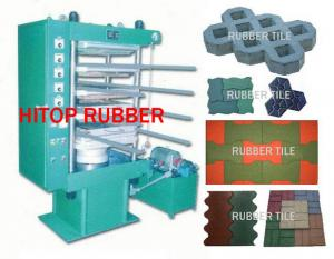 China rubber tile machine on sale