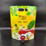 3 liters with vitop valve stand - up aluminum foil bag for apple juice/Professional customized manufacturer