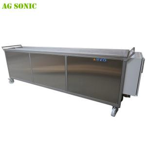 China Mobile Ultrasonic Cleaner For Window Blinds with Rinsing Tank and Casters on sale