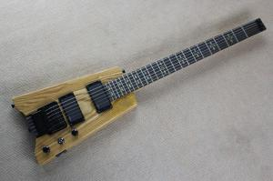 China Shengyun Custom Natural Color Headless Rock Electric Guitar on sale