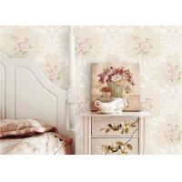 China PVC 3D Cheap Discount Wallpaper / Country Style Wallpaper With Rose Pattern , 0.53*10M on sale