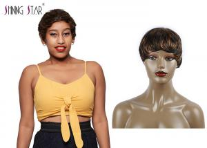 China Piano Colored Short Bob Wigs 100% Human Hair Small Curly Glossy And Clean on sale