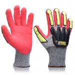 EN388 Certificate  Gloves Impact Protection OEM Services Mining Industry Safety Work Gloves