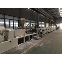China SJSZ Series Conic Double Screw PVC Agriculture Pipe Extrusion Machine Line on sale