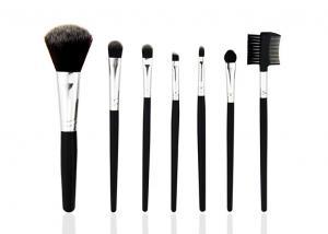 China Goat Hair Travel Makeup Brush Set With Pink Pu Bag , Face Makeup Brushes on sale